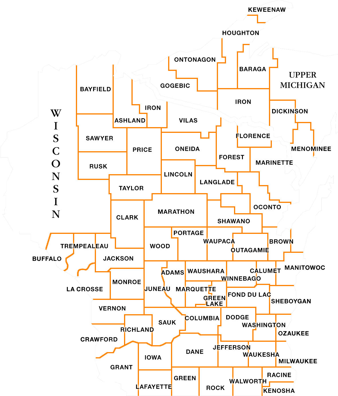 Clickable map of all counties